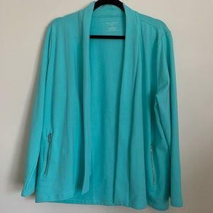 Talbots Petites Open Front Cardigan